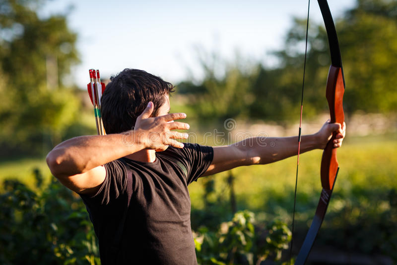 Giovane archer fotografia stock