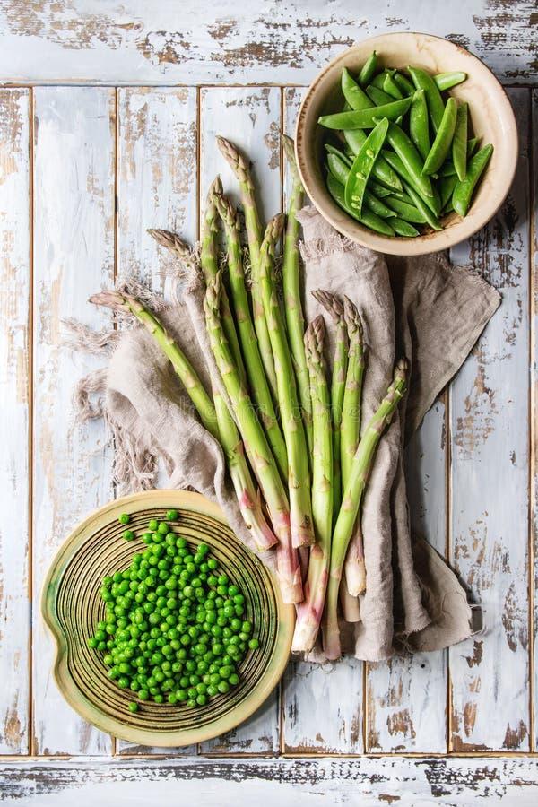 Giovane asparago verde immagine stock