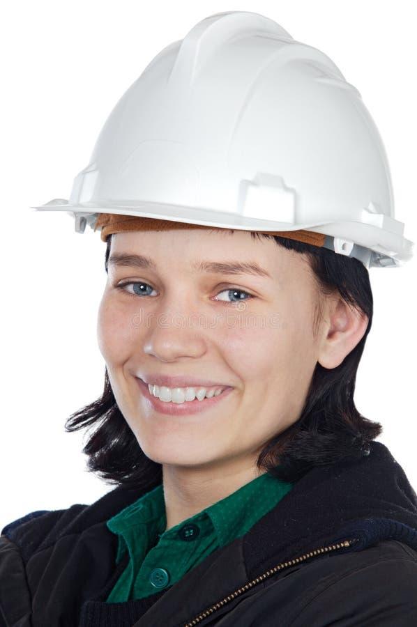 Giovane assistente tecnico attraente fotografia stock libera da diritti
