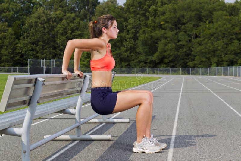 Giovane atleta fotografie stock