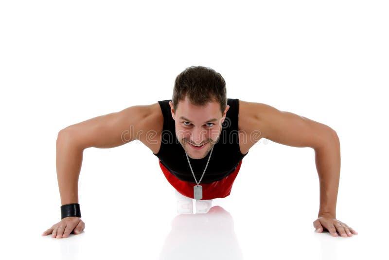 Giovane atleta caucasico attraente dell'uomo immagini stock libere da diritti