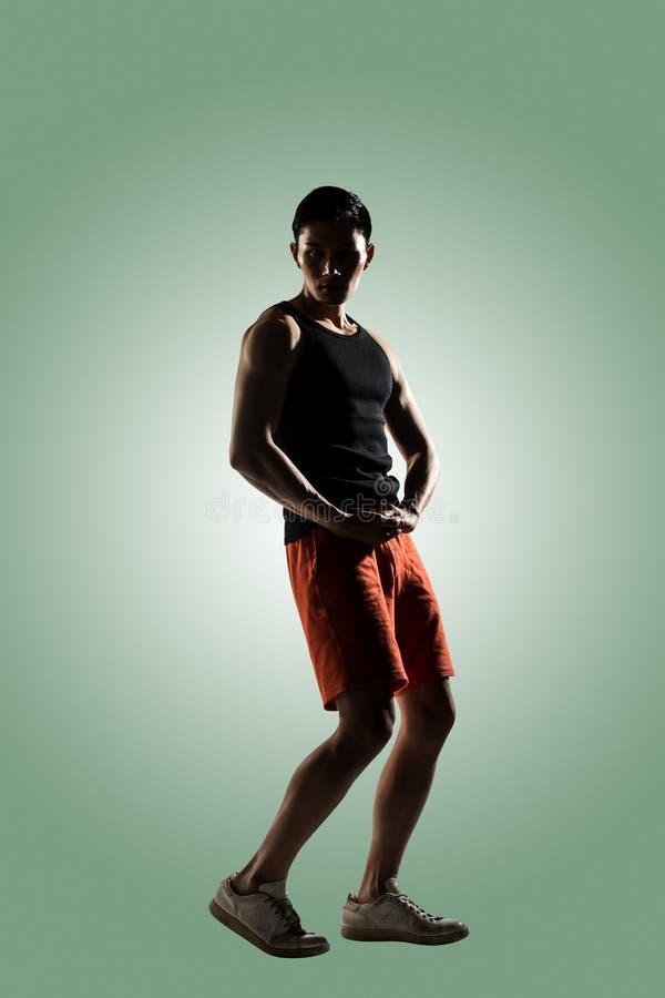 Giovane atleta maschio fotografia stock libera da diritti