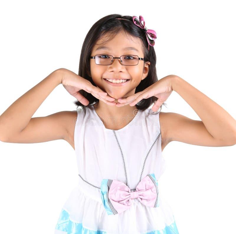 Giovane attivo asiatico VI della ragazza fotografia stock