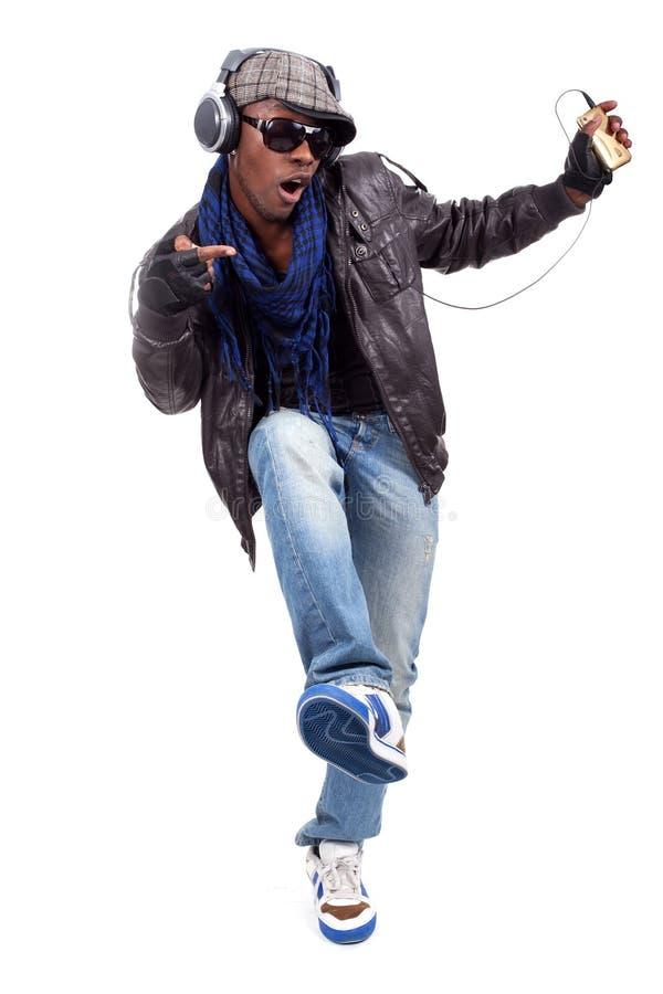 Giovane ballare degli uomini di colore fotografie stock libere da diritti