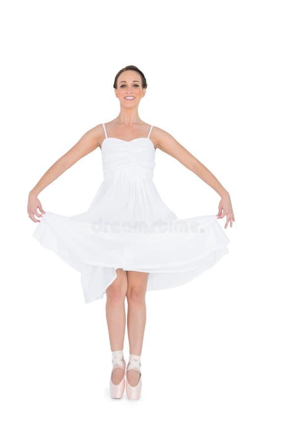 Giovane ballerino di balletto allegro isolato fotografie stock
