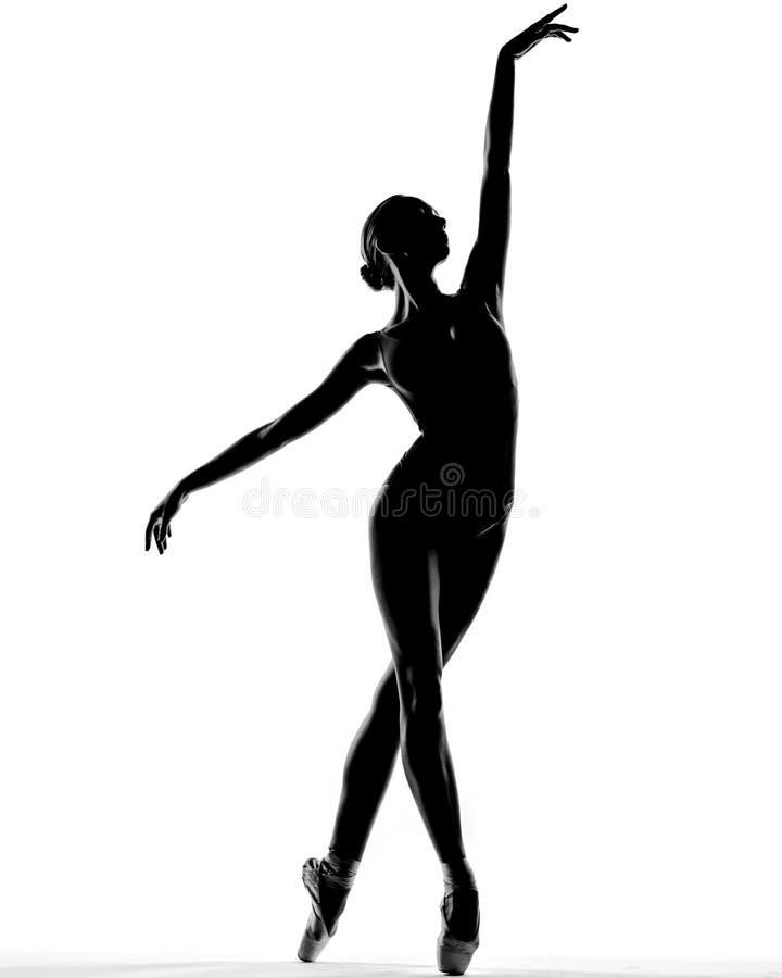 Giovane bella ballerina che posa nello studio fotografia stock libera da diritti