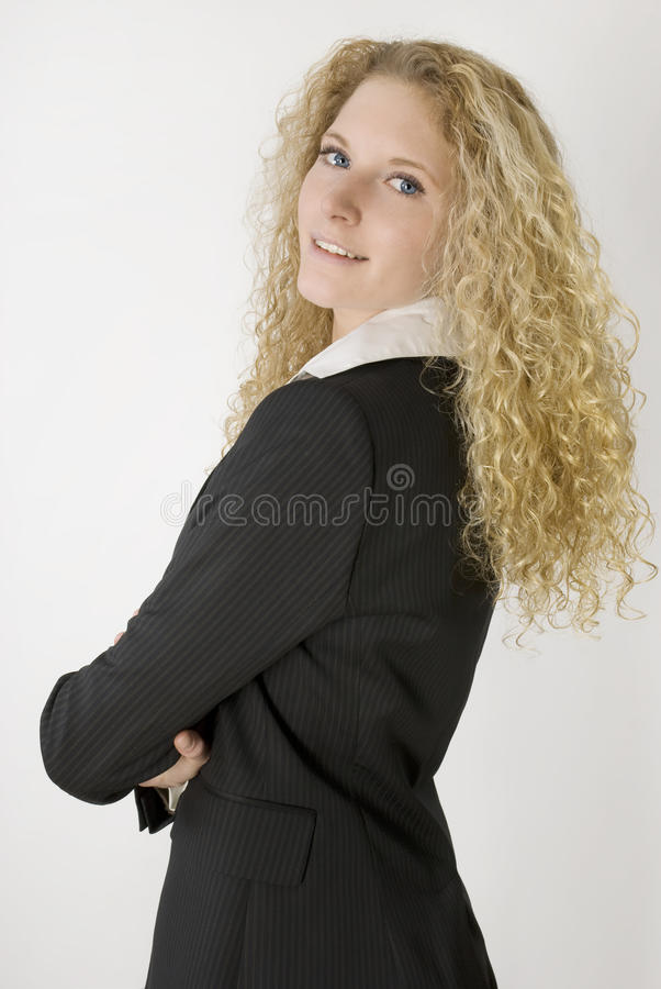 Giovane bella donna di affari, fotografie stock