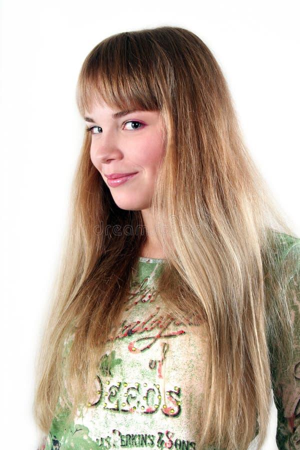Giovane bella donna sorridente sexy fotografie stock