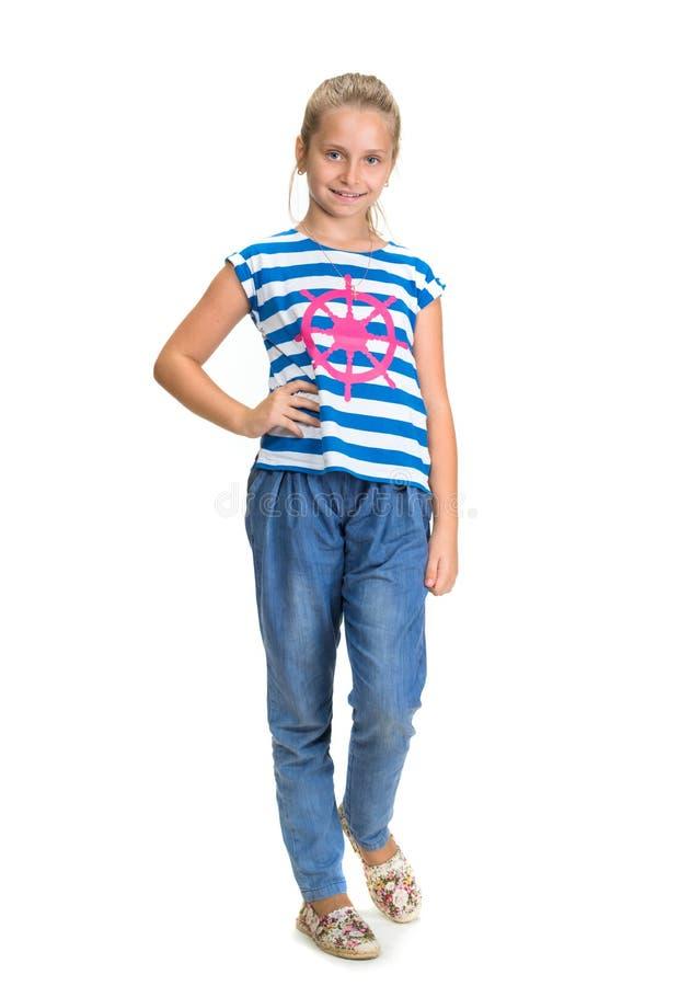 Giovane bella ragazza sorridente immagini stock libere da diritti