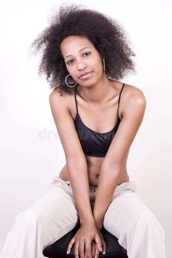 Giovane bellezza africana sexy fotografie stock