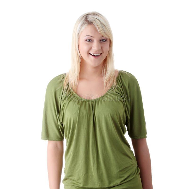 Giovane blonde casuale fotografie stock libere da diritti