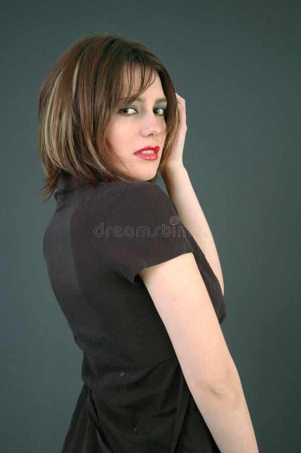 Giovane brunette.   fotografia stock