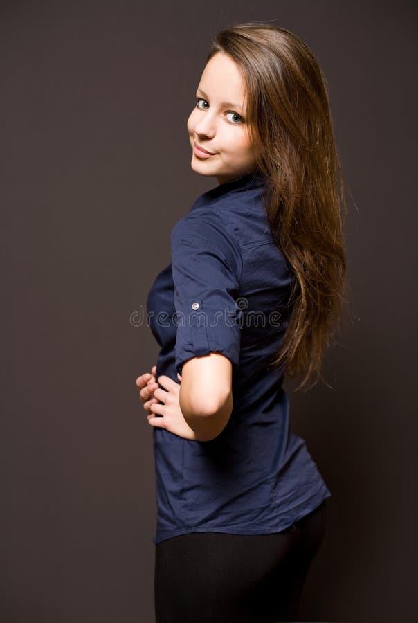 Giovane brunette sveglio fotografia stock