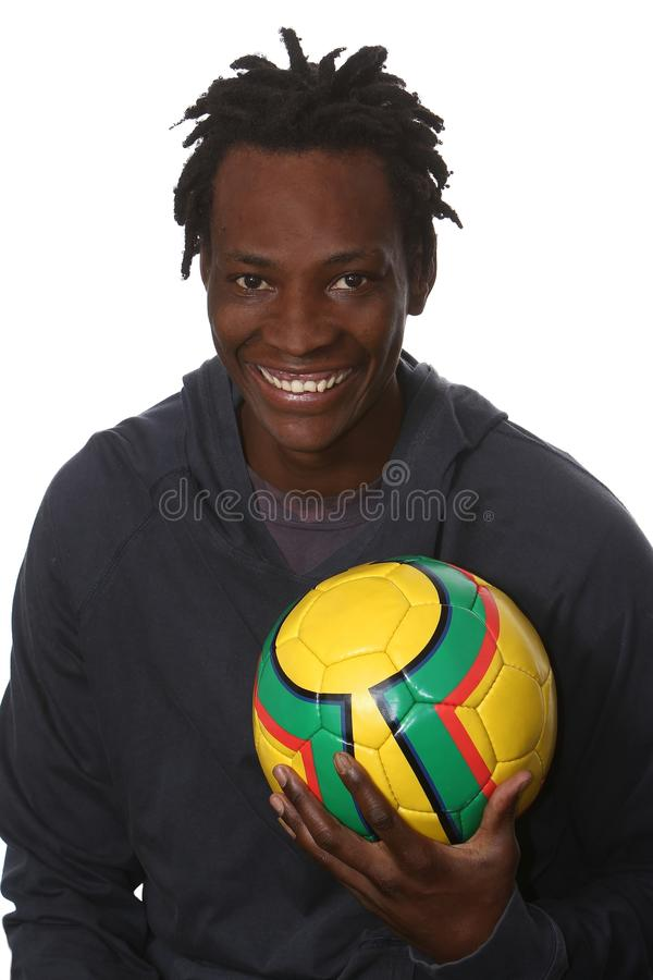 Giovane calciatore africano fotografie stock