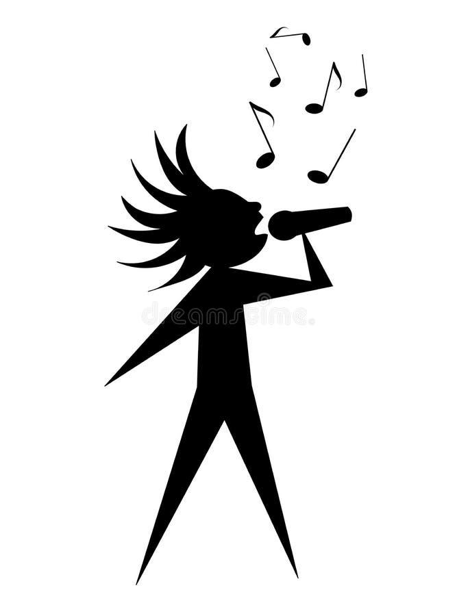 Giovane cantante royalty illustrazione gratis