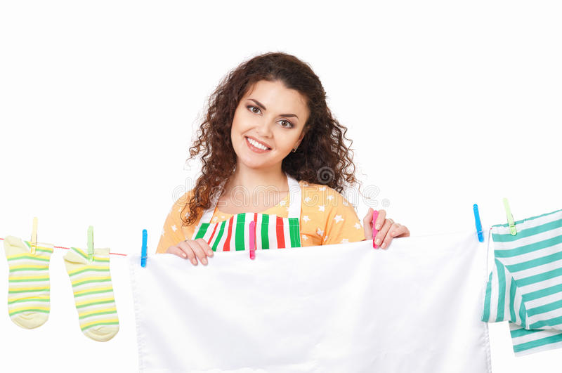 Giovane casalinga fotografia stock libera da diritti