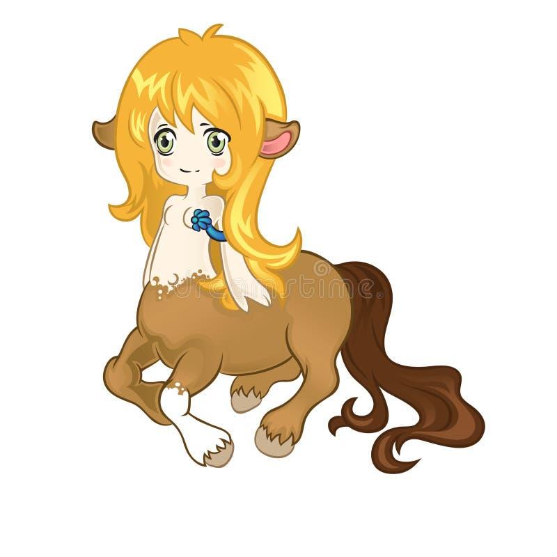 Giovane centaur amichevole illustrazione di stock