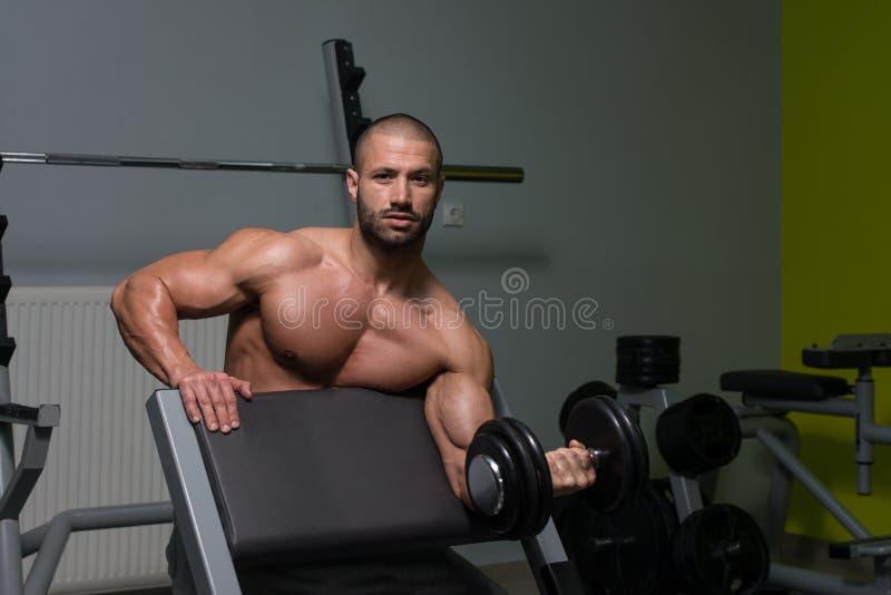 Download Giovane Che Risolve Il Bicipite Fotografia Stock - Immagine di caucasico, corpo: 55353632
