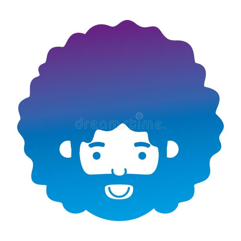 Giovane con il carattere capo dell'avatar di afro royalty illustrazione gratis
