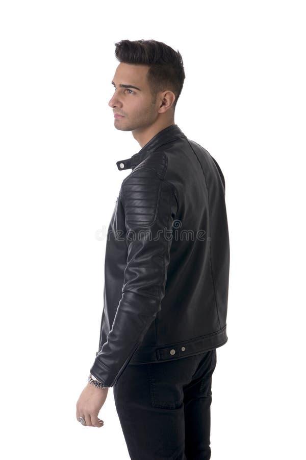 2314529152 Giovane Uomo Sorridente In Camicia Blu E Jeans Isolati Fotografia ...