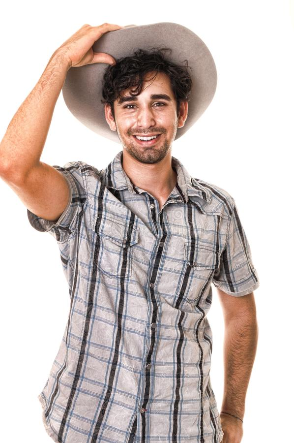 Giovane cowboy fotografia stock