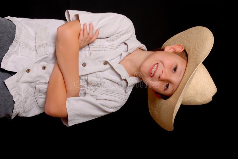 Giovane cowboy fotografie stock