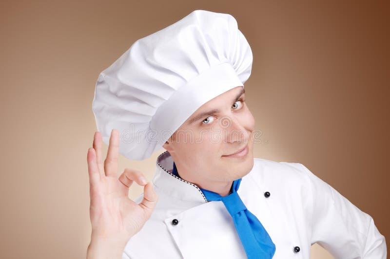 Giovane cuoco unico immagine stock libera da diritti