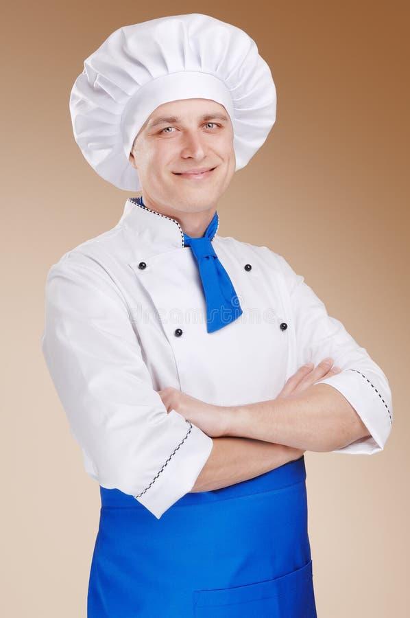 Giovane cuoco unico fotografia stock libera da diritti