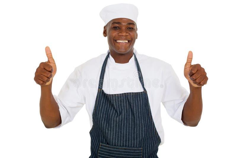 Giovane cuoco unico maschio immagine stock libera da diritti