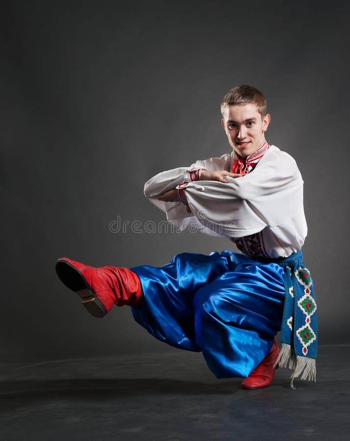 Giovane dancing del cossack immagini stock