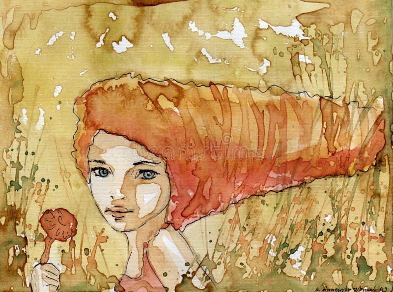 Giovane donna illustrazione vettoriale