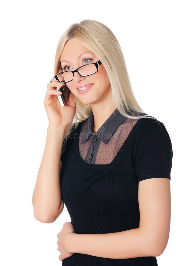 Giovane donna affascinante di affari immagini stock