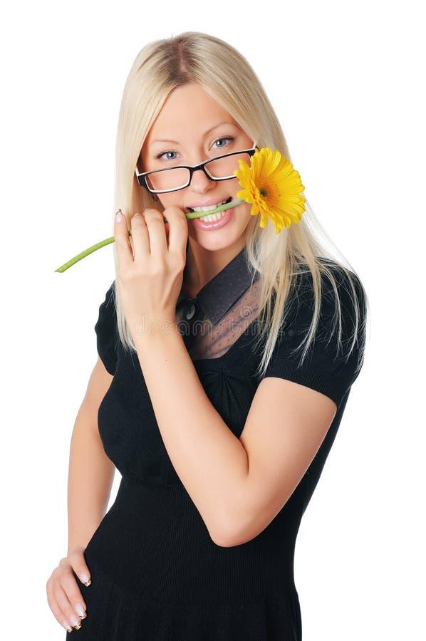 Giovane donna affascinante di affari fotografia stock