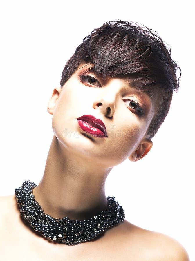 Giovane donna affascinante - modello di modo alla moda immagini stock libere da diritti