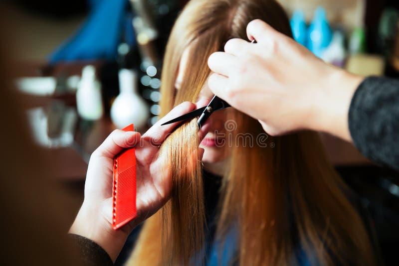 Giovane donna al parrucchiere fotografie stock