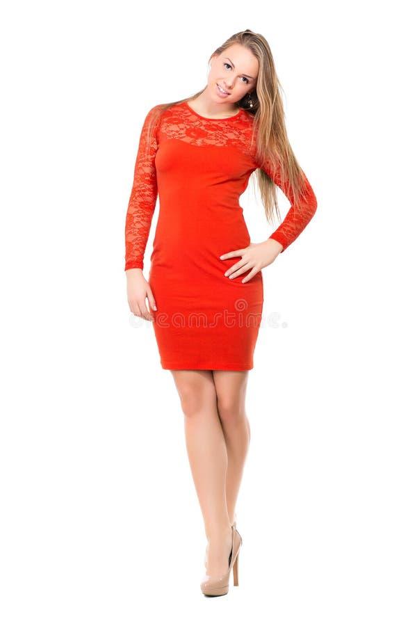 Giovane donna bionda attraente immagini stock