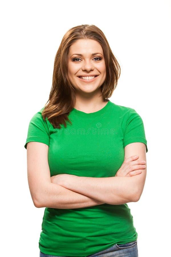 Giovane donna casuale fotografia stock libera da diritti