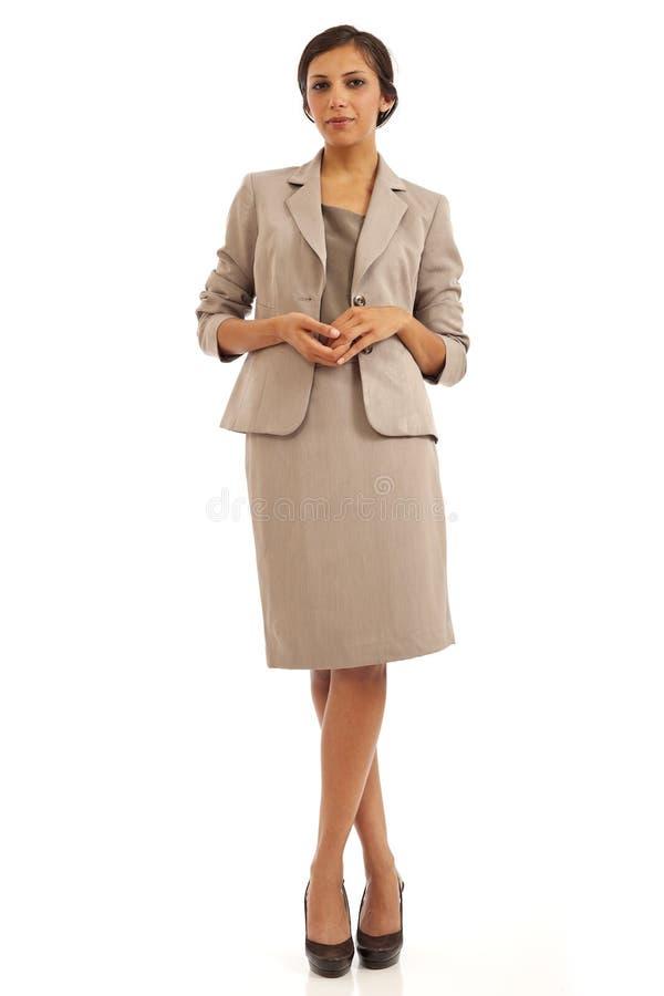 Giovane donna casuale di affari in vestito fotografie stock libere da diritti
