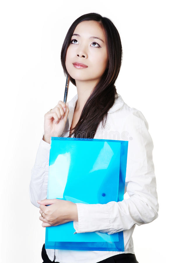 Giovane donna cinese immagine stock