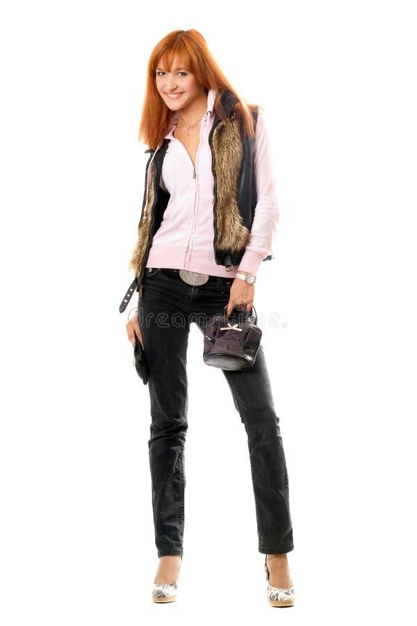 Giovane donna con borse fotografia stock libera da diritti