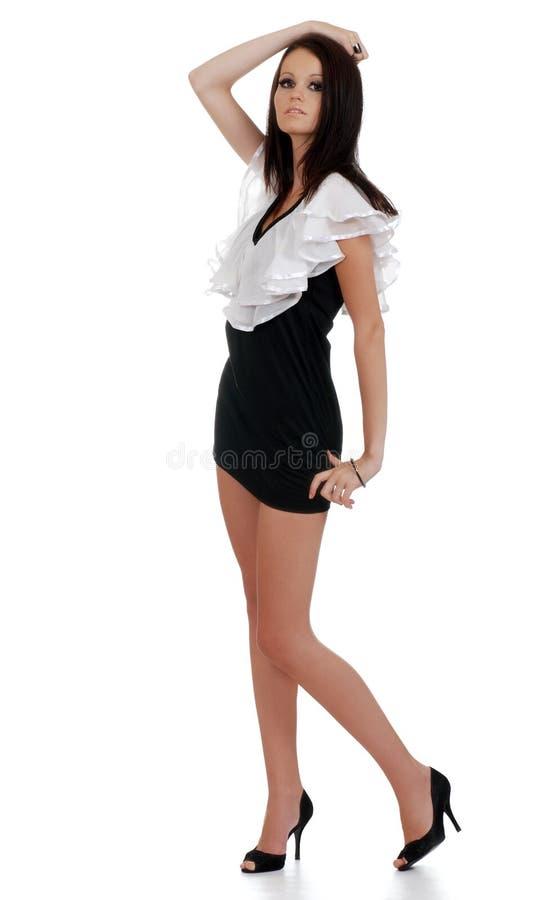 Giovane donna con la posa sexy immagini stock