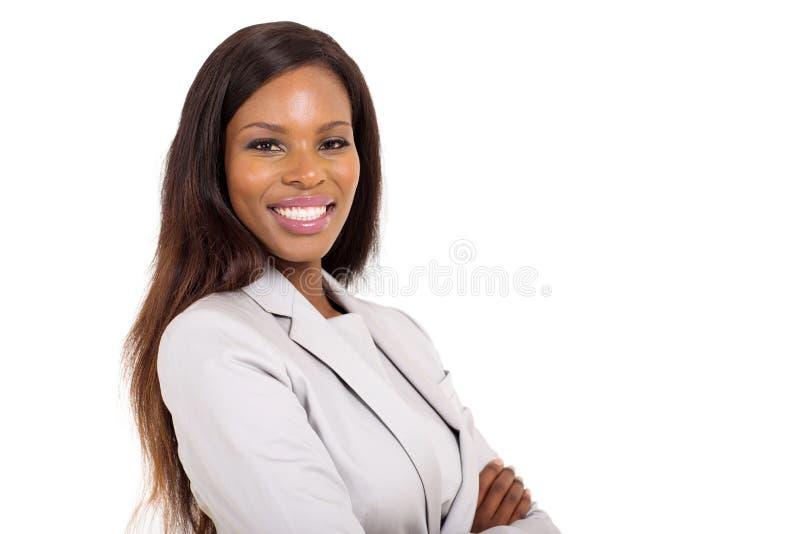 Giovane donna dell'afroamericano immagini stock