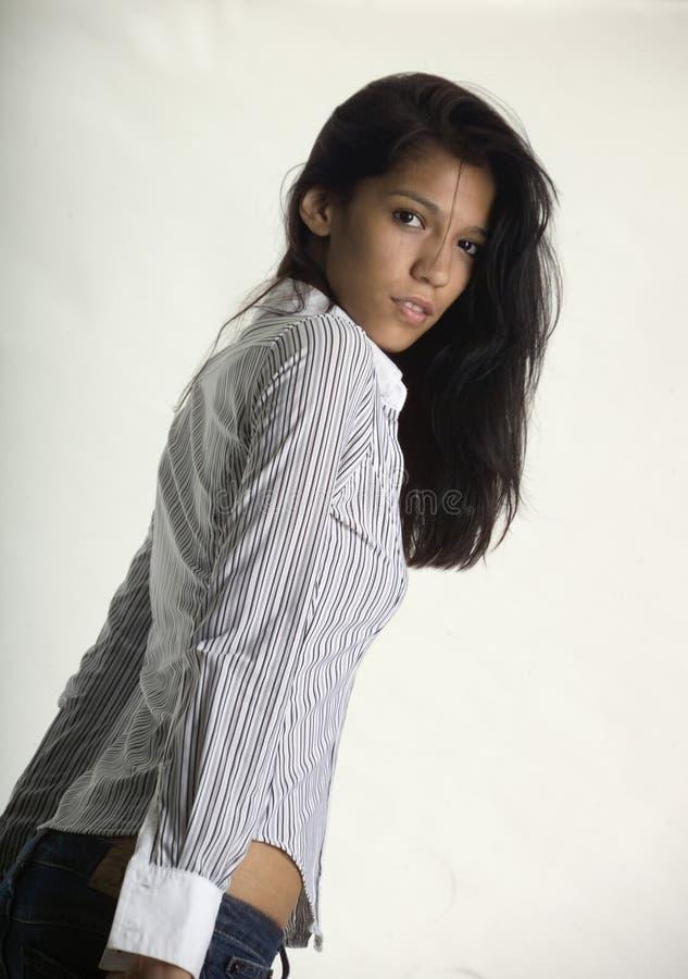 Giovane donna dell'anca fotografia stock libera da diritti