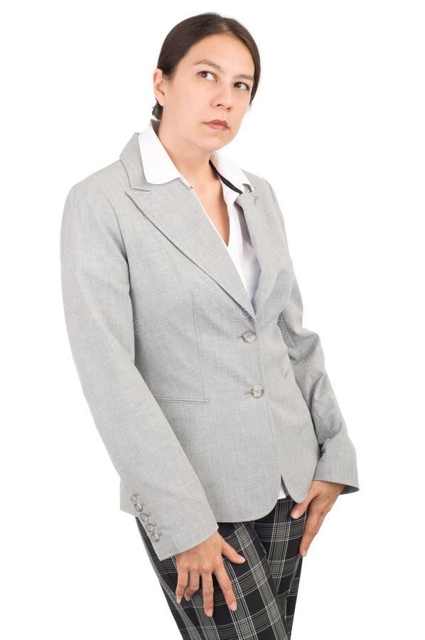 Giovane donna di affari attraente fotografia stock libera da diritti