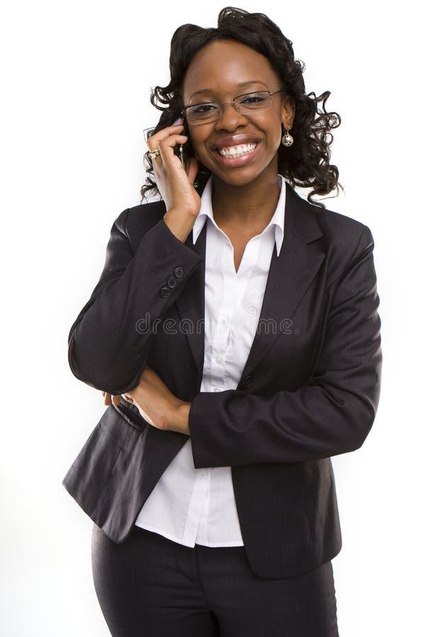 Giovane donna di affari chiamare attraente fotografia stock libera da diritti
