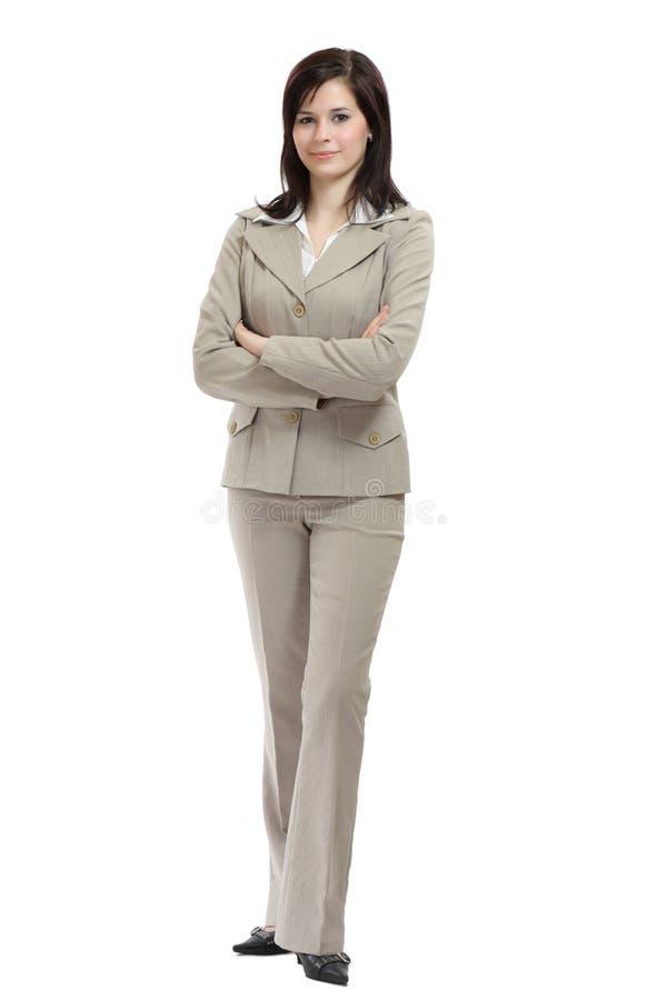 Giovane donna di affari del brunette fotografia stock