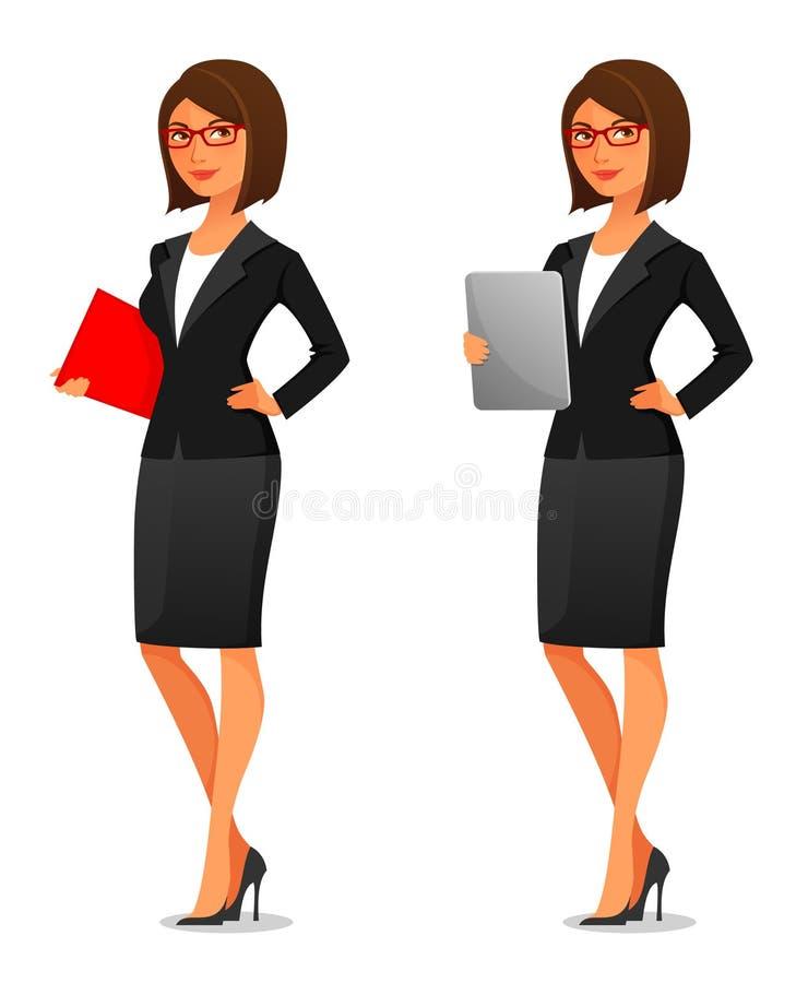 Giovane donna di affari elegante royalty illustrazione gratis