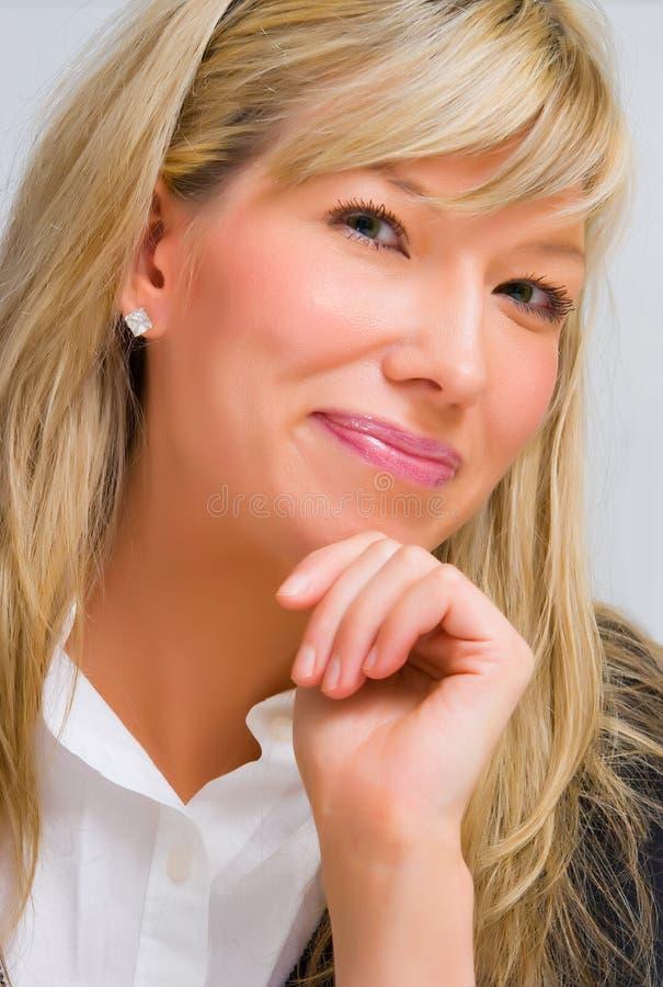 Giovane donna di affari felice fotografia stock