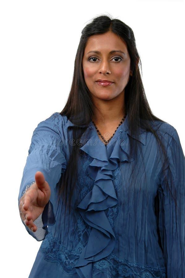 Giovane donna di affari indiana immagini stock libere da diritti
