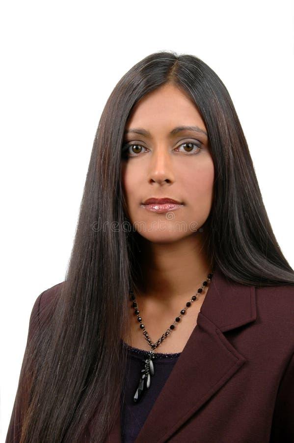 Giovane donna di affari indiana fotografia stock libera da diritti